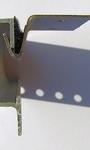 Plafond           RVS plafond Steuntjes voor brede rail Liso per setje
