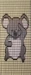 066             vliegengordijn koala beertje  Liso 92x209 Kant-en-Klaar
