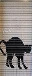 116             vliegengordijn zwarte kat Liso® 92x209 Kant-en-Klaar