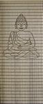117             vliegengordijn Boeddha klein Liso 92x209 Kant-en-Klaar