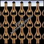 100x230cm       Kettinggordijn Brons AANBIEDING Kant-en-Klaar